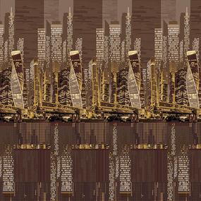 Бязь Премиум 220 см набивная Тейково рис 6823 вид 1 Легенда голд фото