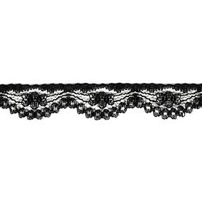 Кружево капрон 14 мм/10 м цвет 3197/197-1 черный фото