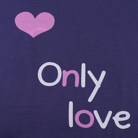 Ткань на отрез поплин 220 см 767-1 Только любовь основа фото