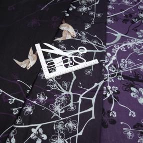Ткань на отрез бязь 120 гр/м2 220 см 20383/3 Легкое дыхание осн. 3 фиолет. фото