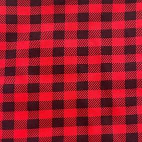 Ткань на отрез кулирка 1172-V2 Клетка цвет красный фото
