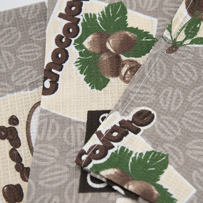 Набор вафельных полотенец 3 шт 35/70 см 366-5 Шоколадный фото