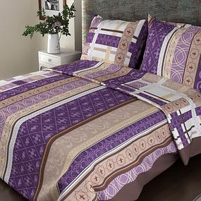 Постельное белье бязь ГОСТ 301/3 Аккорд цвет фиолетовый 1.5 сп с 1-ой нав. 70/70 фото