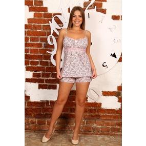 Пижама Царица шорты Огурцы на розовом Б16 р 56 фото