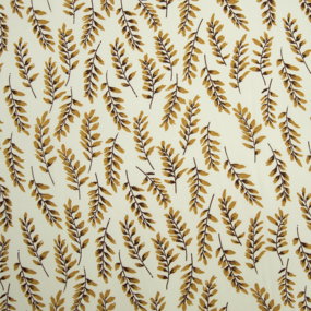 Ткань на отрез шифон 150 см 2284 Веточки цвет молочный фото