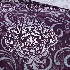 Постельное белье 198581 Гранд 1 фиол сатин 1.5 сп фото