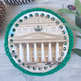 Круглое донышко с печатью Большой театр 15см фото