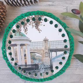 Круглое донышко с печатью Парк Горького 15см фото