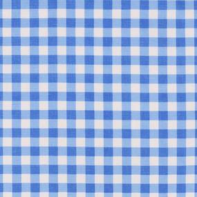 Ткань на отрез полулен 150 см 10432/2 цвет голубой фото