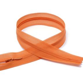 Молния пласт потайная №3 50 см цвет F282 оранжевый фото