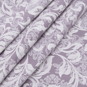Ткань на отрез кулирка 2252-V2 Узор цвет лиловый фото