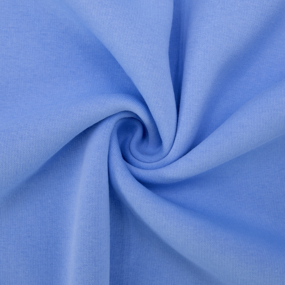 Ткань на отрез футер 3-х нитка компакт пенье начес цвет голубой фото