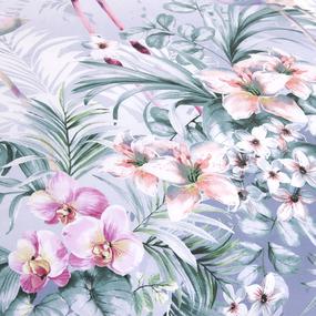 Сатин набивной 220 см 203562 Фламинго основа 2 фиолет. фото