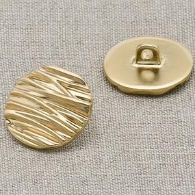 Пуговица металл ПМ5 17мм золото плоская уп 12 шт фото
