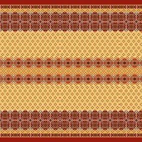 Ткань на отрез вафельное полотно набивное 150 см 440/1 Народный цвет красный фото