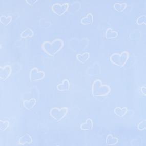 Ткань на отрез бязь плательная 150 см 1970/2 Флирт цвет голубой о/м фото