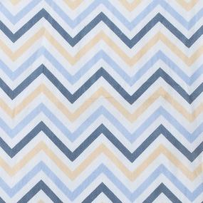 Ткань на отрез бязь плательная 150 см 7778/1 Зигзаг цвет бежевый фото