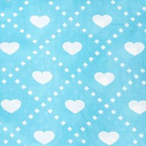 Ткань на отрез бязь плательная 150 см 1958/2 Любовь цвет бирюза фото