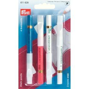 611628 PRYM Меловые карандаши со стирающей кисточкой, разноцветные фото