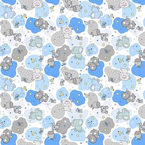 Фланель 90 см набивная арт 514 б/з Тейково рис 21221 вид 1 Звездные слоники фото