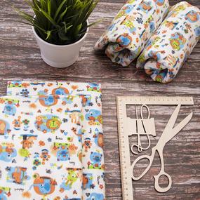 Набор детских пеленок фланель 4 шт 75/120 см 736-1П фото