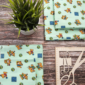 Набор детских пеленок фланель 4 шт 75/120 см 156-5П фото