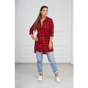 Рубашка 0732-05 цвет Красный р 42 фото