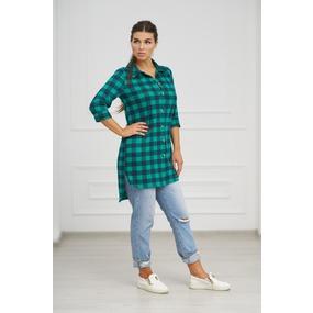 Рубашка 0732-24 цвет Зеленый р 42 фото