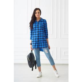 Рубашка 0732-34 цвет Синий р 42 фото