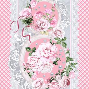 Полотно вафельное 50 см набивное арт 60 Тейково рис 5573 вид 1 8 марта фото