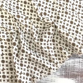 Маломеры Рубашечная ткань Элиф LV-4 б/з цвет коричневый 4 м фото