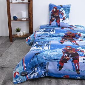 Детское постельное белье из бязи 1.5 сп 192531 Хоккей фото