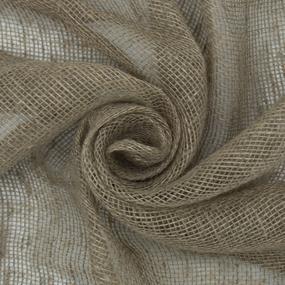 Ткань на отрез мешковина джут/лен 190 гр/м2 110 см 33/25 фото