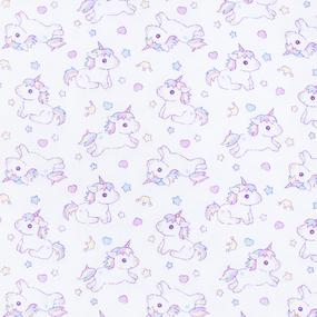 Ткань на отрез фланель 90 см 98071 Единорожки фото