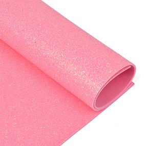 Фоамиран глиттерный 2 мм 20/30 см уп 10 шт MG.GLIT.H040 цвет розовый фото