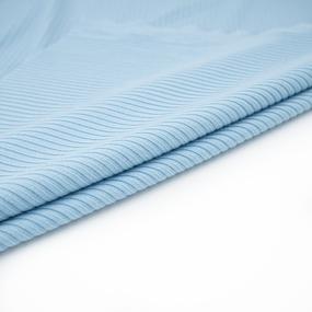 Ткань на отрез трикотаж лапша цвет голубой фото