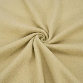 Ткань на отрез флис цвет Бежевый фото