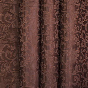 Портьерная ткань 150 см 100/2С цвет 9 коричневый фото