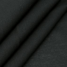 Ткань на отрез пике цвет черный фото