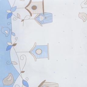 Простынь бязь детская 8077 Птенчики цвет голубой 110/150 см фото