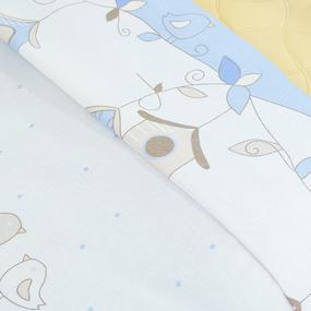 Пододеяльник бязь 120 гр/м2 детский 8077 Птенчики цвет голубой 145/110 см фото