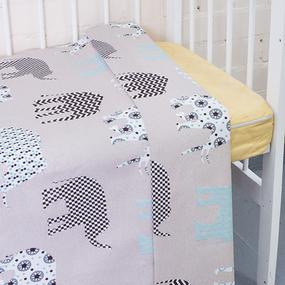 Пододеяльник бязь 120 гр/м2 детский 8118/2 Слоны цвет серый 145/110 см фото
