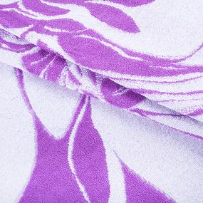 Полотенце махровое 1255 Любимой цвет сирень 70/140 см фото