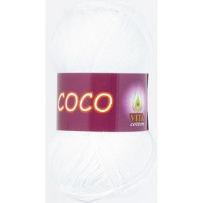Coco 3851 100% мерсеризованный хлопок 50гр 240м (Индия) цвет белый фото