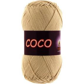 Coco 3889 100% мерсеризованный хлопок 50гр 240м (Индия) цвет св.бежевый фото
