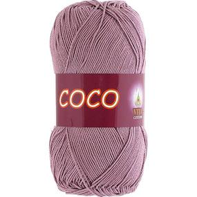 Coco 4307 100% мерсеризованный хлопок 50гр 240м (Индия) цвет пыльн.роза фото