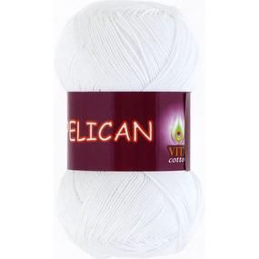 Pelican 3951 100% хлопок двойной мерсеризации 50гр 330м (Индия) цвет белый фото