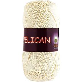 Pelican 3993 100% хлопок двойной мерсеризации 50гр 330м (Индия) цвет молочный фото