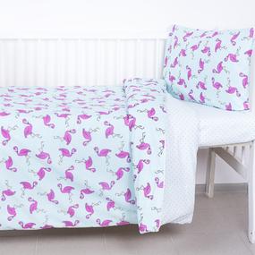 Постельное белье в детскую кроватку 434/2+388А/16 поплин фото