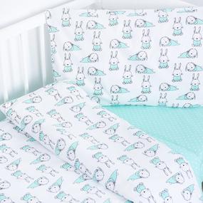 Постельное белье в детскую кроватку из поплина 1956/1+388/16 фото